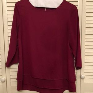 Burgundy blouse good condition!